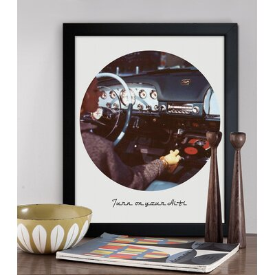 Oliver Gal ''Turn on your HiFi'' Framed Art Print