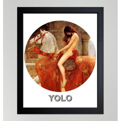 Oliver Gal ''Yolo'' Framed Graphic Art