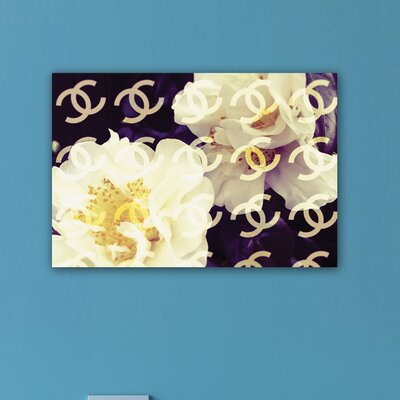 "Oliver Gal ""Coco""s Camellia Vanilla"" Graphic Art on Canvas"