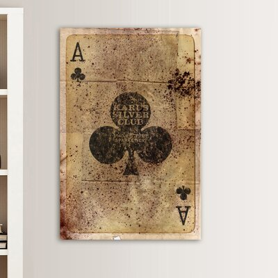 "Oliver Gal ""Ace of Clubs"" Graphic Art on Canvas"