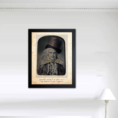 "Oliver Gal ""Mad Hatter"" Framed Graphic Art"