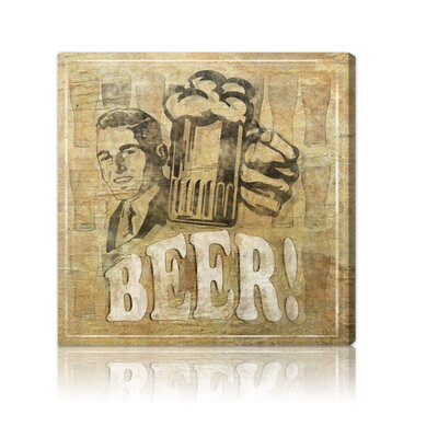 Oliver Gal ''Beer'' Canvas Wall Art