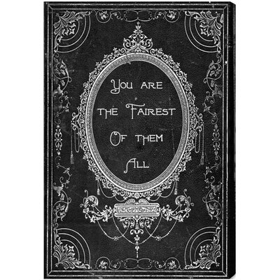 Oliver Gal The Fairest Textual Art on Canvas