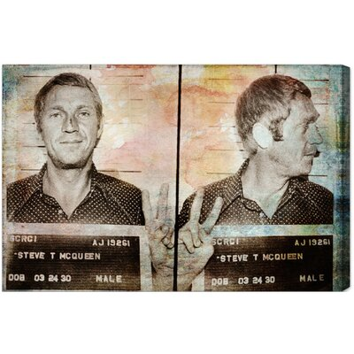 Steve McQueen Headshot Graphic Art on Canvas
