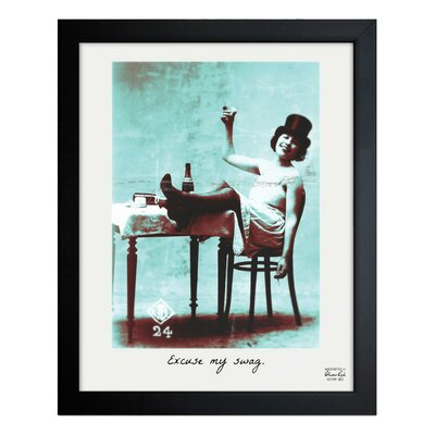 Oliver Gal Excuse My Swag Canvas Art Print