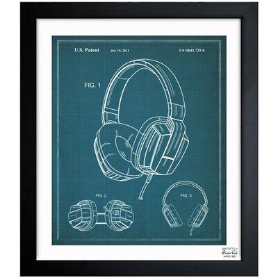 Headphones 2010 Framed Graphic Art