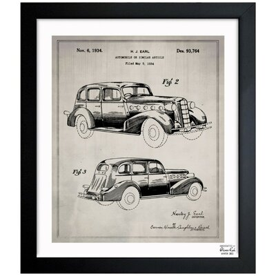 Automobile I 1934 Framed Graphic Art
