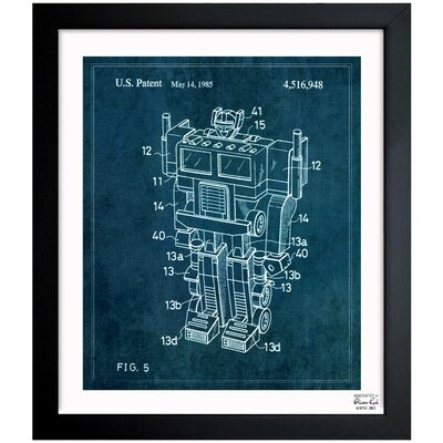 Reconfigurable Toy 1985 Framed Graphic Art