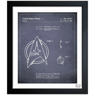 Starfleet Insignia 1981 Framed Graphic Art