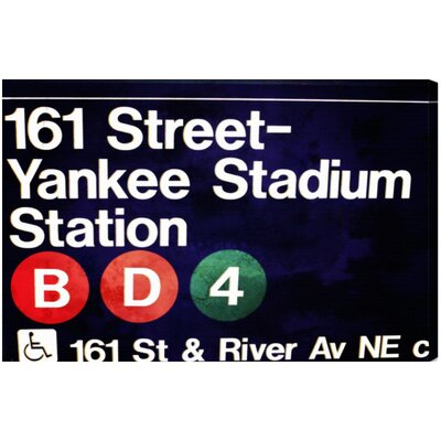 Yankee Stadium Textual Art on Canvas