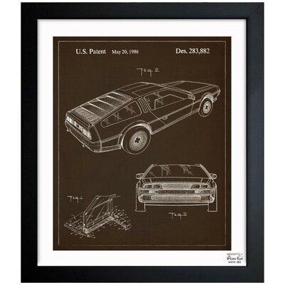 Delorean 1986 Framed Graphic Art