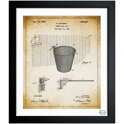 Basketball Hoop 1925 Framed Graphic Art