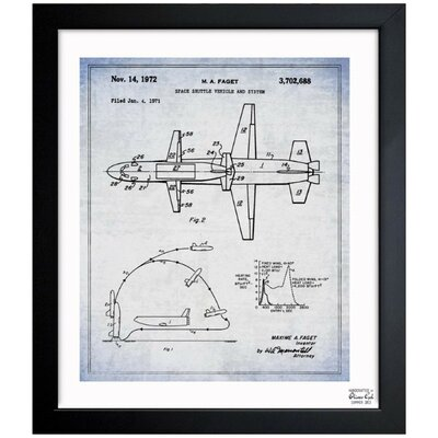 Space Shuttle Vehicle and System 1967 Framed Graphic Art
