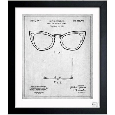 Ray-Ban Wayfarer Spectacle Frame 1953 Framed Graphic Art
