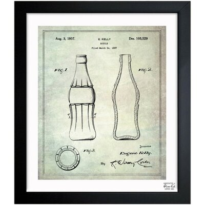 Coca Cola Bottle 1937 Framed Graphic Art