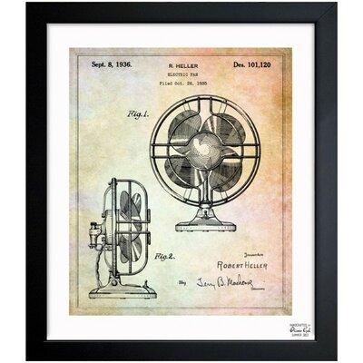 Electric Fan 1936 Framed Graphic Art