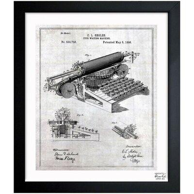 Type Writing Machine 1896 Framed Graphic Art