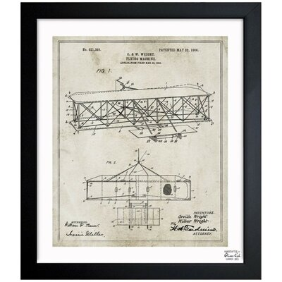 Wright Flying-Machine 1906 Framed Graphic Art