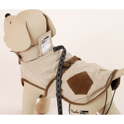 PetEgo Corduroy Hunter Dog Coat in Cream with Brown Pockets