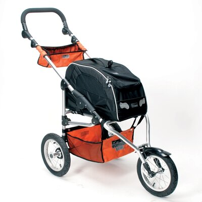 Sport Trike Jogger Pet Stroller with Wagon Bag Carrier