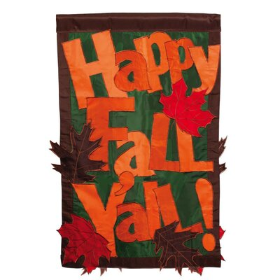 Evergreen Flag & Garden Happy Fall Y'all 2-Sided Garden Flag