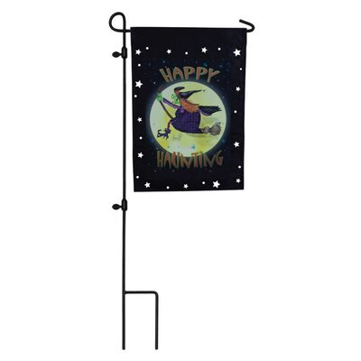 Evergreen Flag & Garden Witch Ride Garden Flag