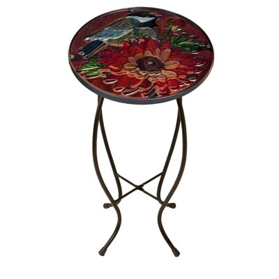 Fall Bird and Bloom Side Table