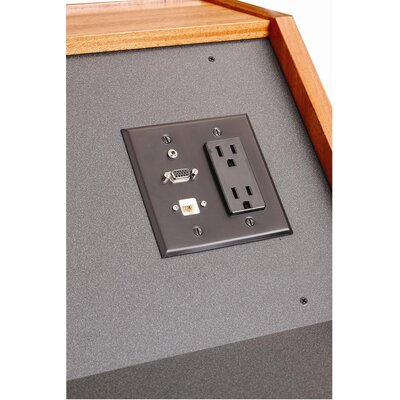 Sound Craft Optional Lectern Connectivity Panel in Black