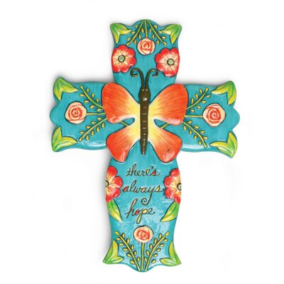 Field of Flowers Hope Cross Wall Décor