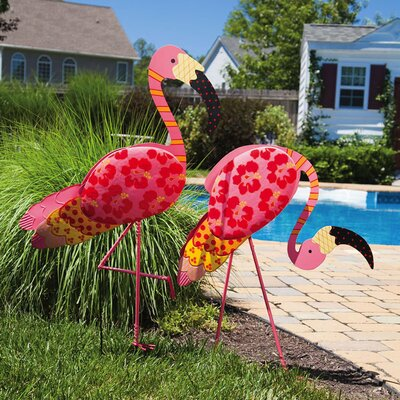 Flamingo Garden Stake (Set of 2)