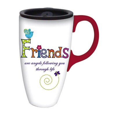 Friends are Angels Latte Travel Mug