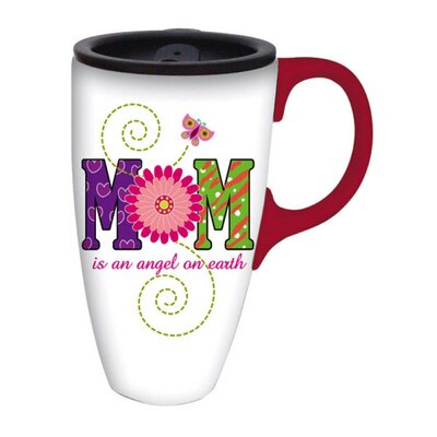 Mom is an Angel Latte Travel Mug