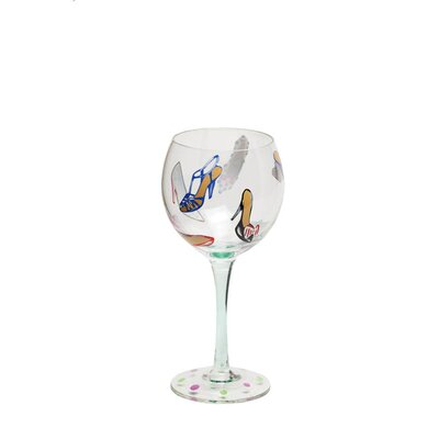 Shoes Hand Painted Wine Glass