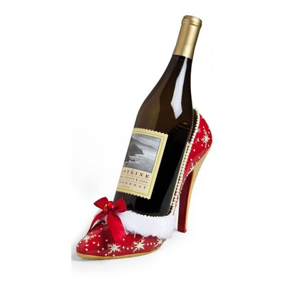 Polystone High Heel Wine Bottle Holder