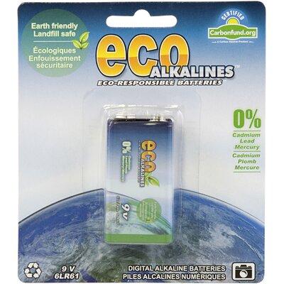 EcoAlkalines Alkaline 9V Battery