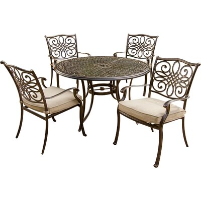 Traditions 5 Piece Dining Set with Cushions