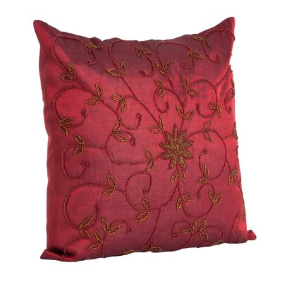 Saro Metallic / Polyester Pillow Cover