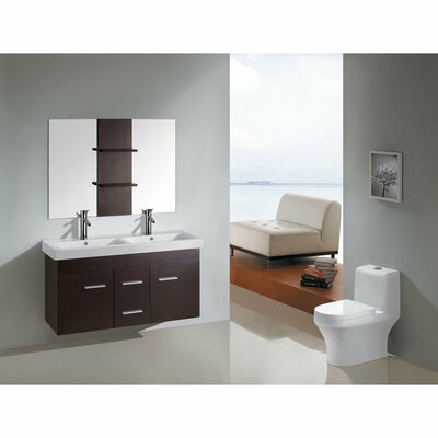 "Kokols 47"" Floating Wall Mount Bathroom Vanity Set"