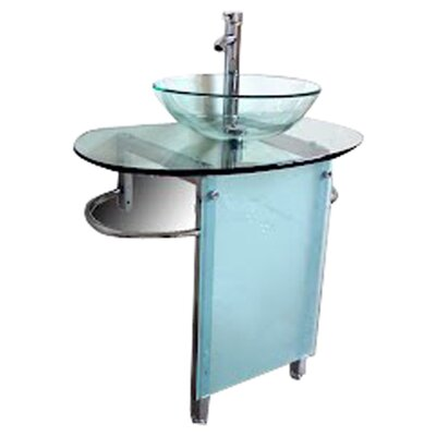 "Kokols 30"" Pedestal Bathroom Vanity Set"