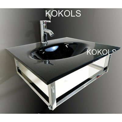 Bathroom Vessel Sink and Faucet - WF-31B