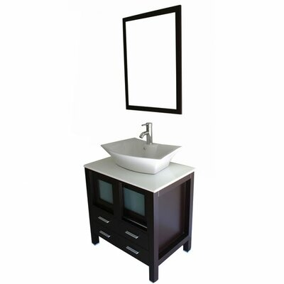 Kokols Single Sink Bathroom Vanity Set