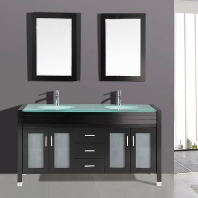 63 double bathroom vanity set wayfair