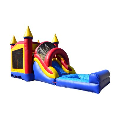 JumpOrange Rainbow Mega Wet/Dry Inflatable Commercial Grade Bouncy House and Slide Combo