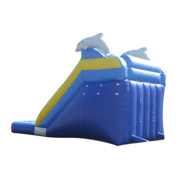 JumpOrange Dolphin Xtreme Wet/Dry Commercial Grade Inflatable Water Slide