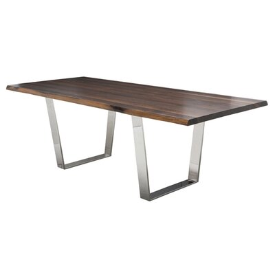 Nuevo Versailles Dining Table with Seared Oak Top