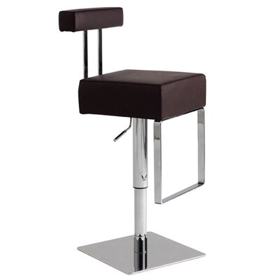 Nuevo Aria Adjustable Bar Stool in Chocolate