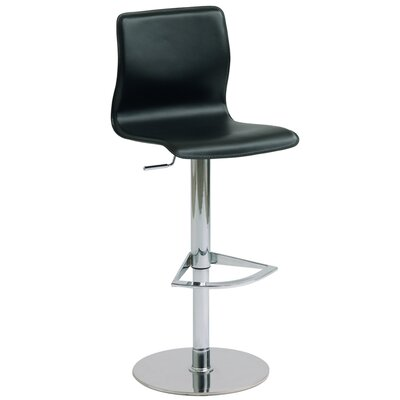 Nuevo Weston Adjustable Bar Stool in Black