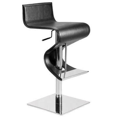 Nuevo Portland Adjustable Bar Stool in Black