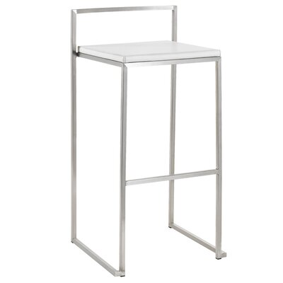 Nuevo Genoa Counter Stool in White