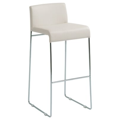 Nuevo Nina Nauga Bar Stool in White